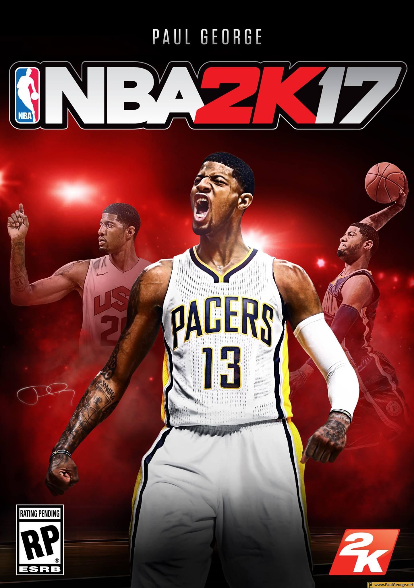 Paul George Named NBA 2K17 Cover Athlete